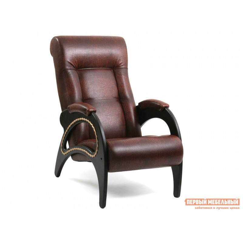 Кресло  Кресло Сиена Antic Crocodile, иск. кожа, Венге