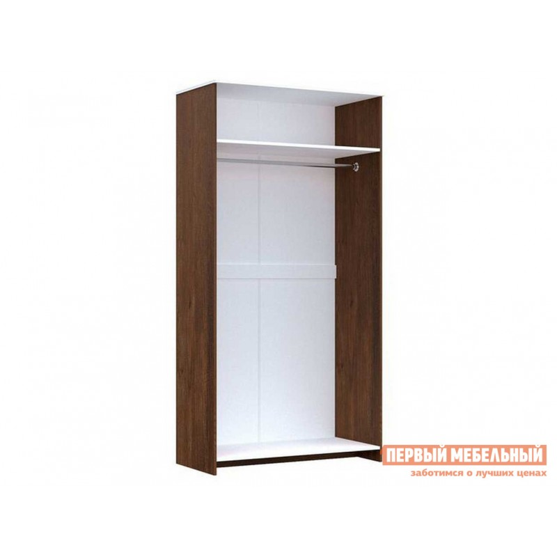 Распашной шкаф  Шкаф для одежды 2-х дверный Кантри Орех рибек темный (фото 2)