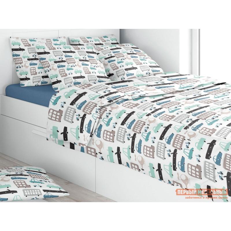 Комплект постельного белья  КПБ Amore Mio Eco cotton combo Carro Carro, поплин, 50 Х 70 см