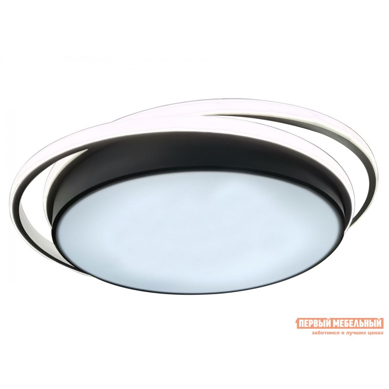 Люстра  LED 81038/5C Черно, металл / Белый, металл / Белый, пластик