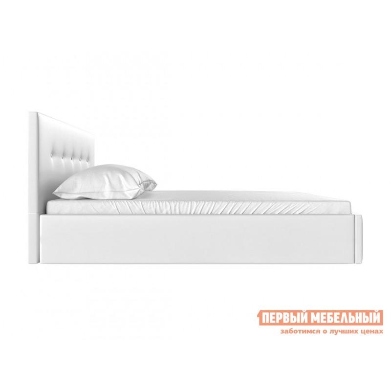 Двуспальная кровать  Колумбия ПМ Белый экокожа, 1600 Х 2000 мм (фото 3)