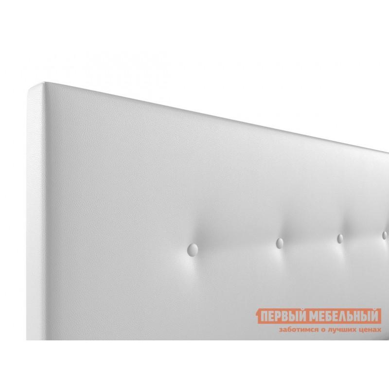 Двуспальная кровать  Колумбия ПМ Белый экокожа, 1600 Х 2000 мм (фото 5)