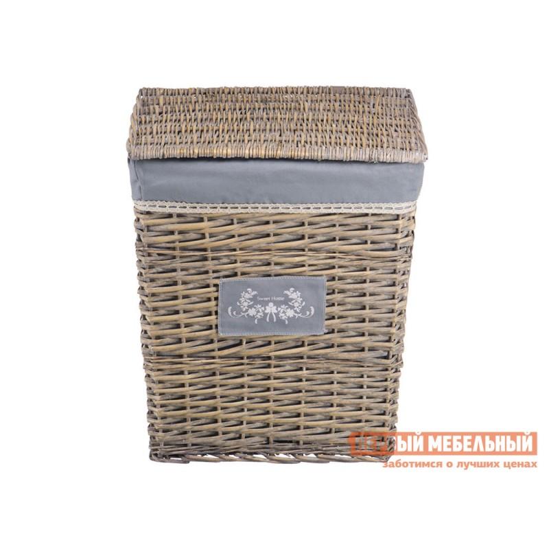 Корзина для хранения  Лен Ивовая лоза / Серый, ткань, XL