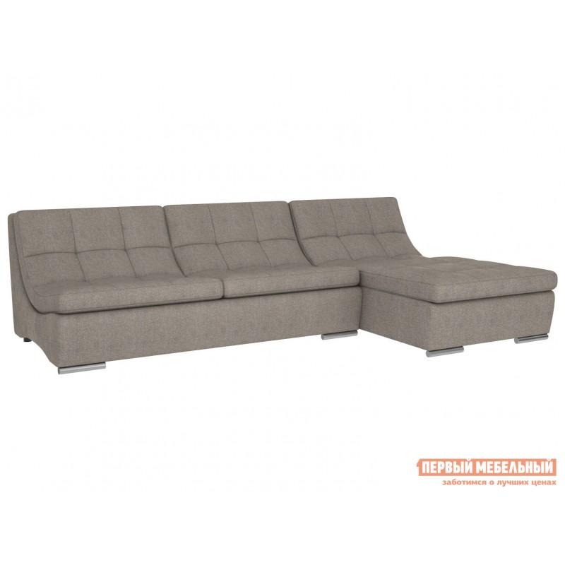 Прямой диван  Сан-Диего Серо-бежевый, рогожка (фото 4)
