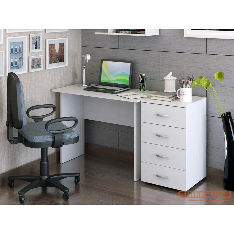 Письменный стол  Милан-105 Белый (фото 2)