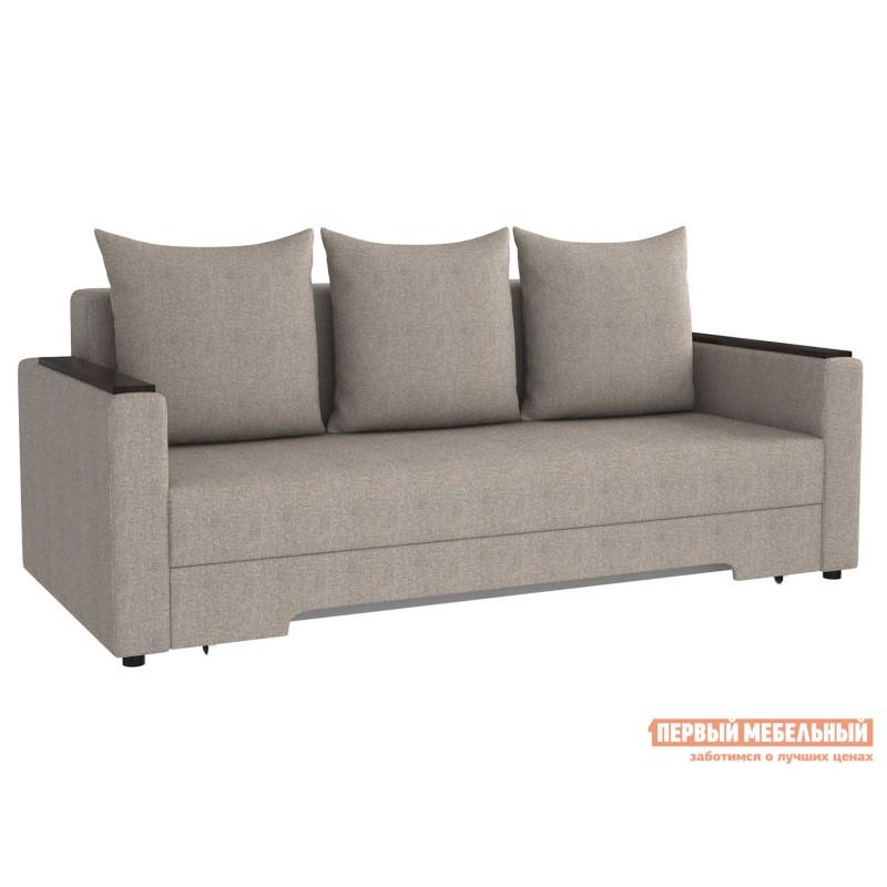 Прямой диван  Диван Челси с подлокотниками Серо-бежевый, рогожка