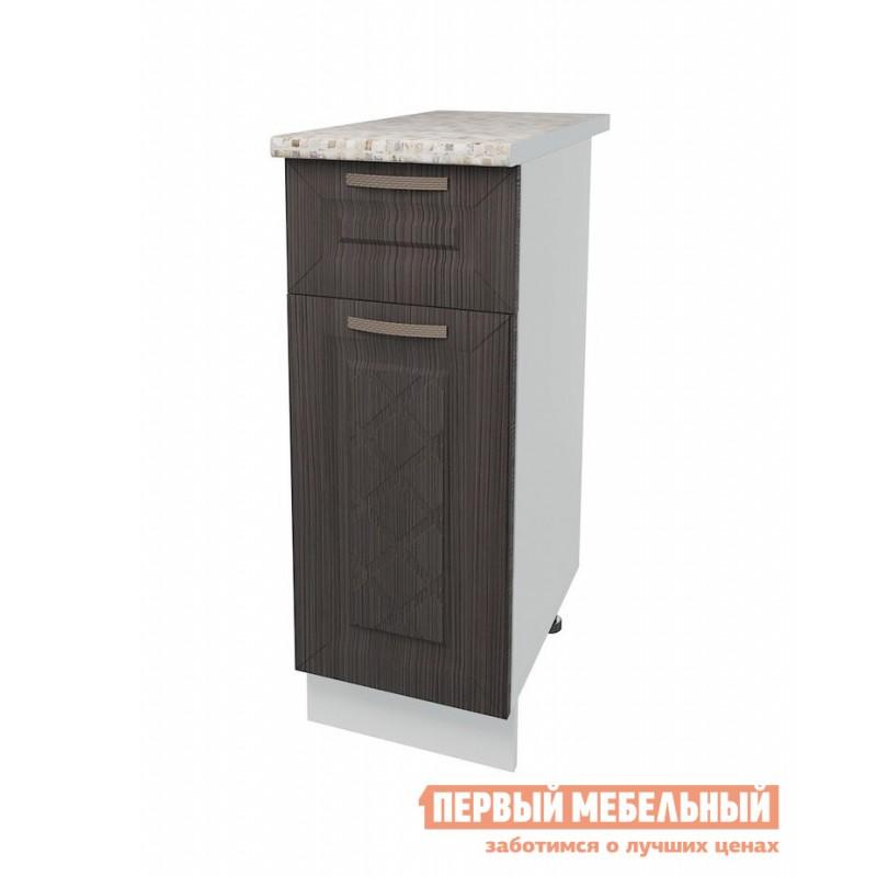 Кухонный модуль  Стол 1 дверь 1 ящик 30 см Агава Лиственница темная
