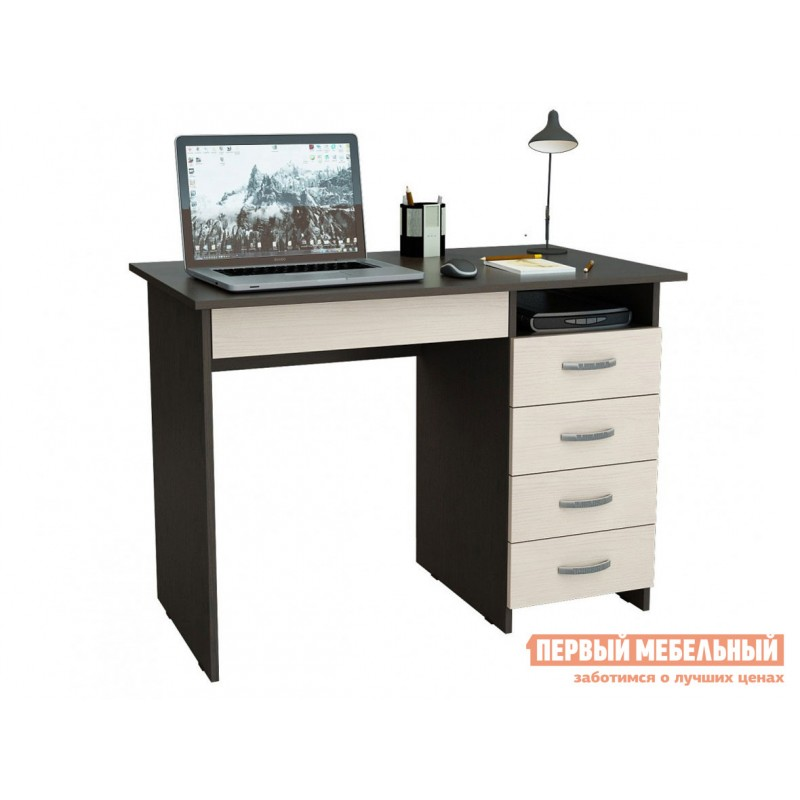 Компьютерный стол  Стол письменный Милан-1 (0120) Венге / Дуб Молочный