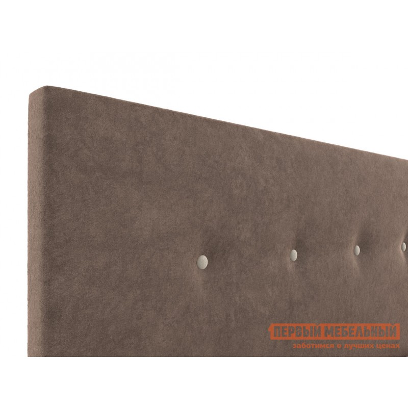 Двуспальная кровать  Колумбия ПМ Коричневый / Бежевый велюр, 1400 Х 2000 мм (фото 5)
