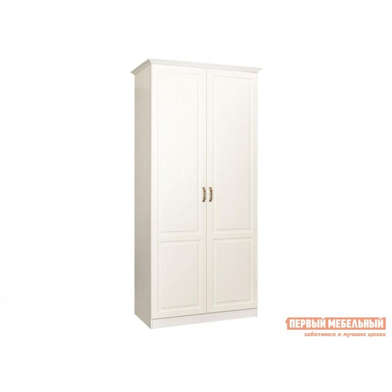 Распашной шкаф  Шкаф 2-х створчатый с зеркалом 13.134 Ливерпуль Ясень Ваниль / Белый, С карнизом
