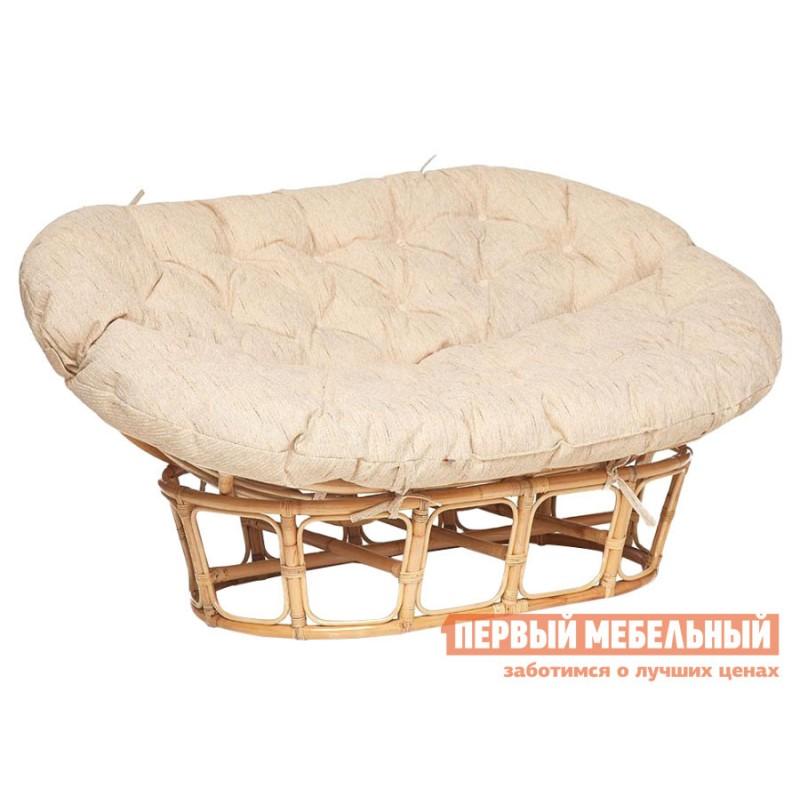 Плетеное кресло  MAMASAN ECO Натуральный, ротанг / Бежевый, ткань