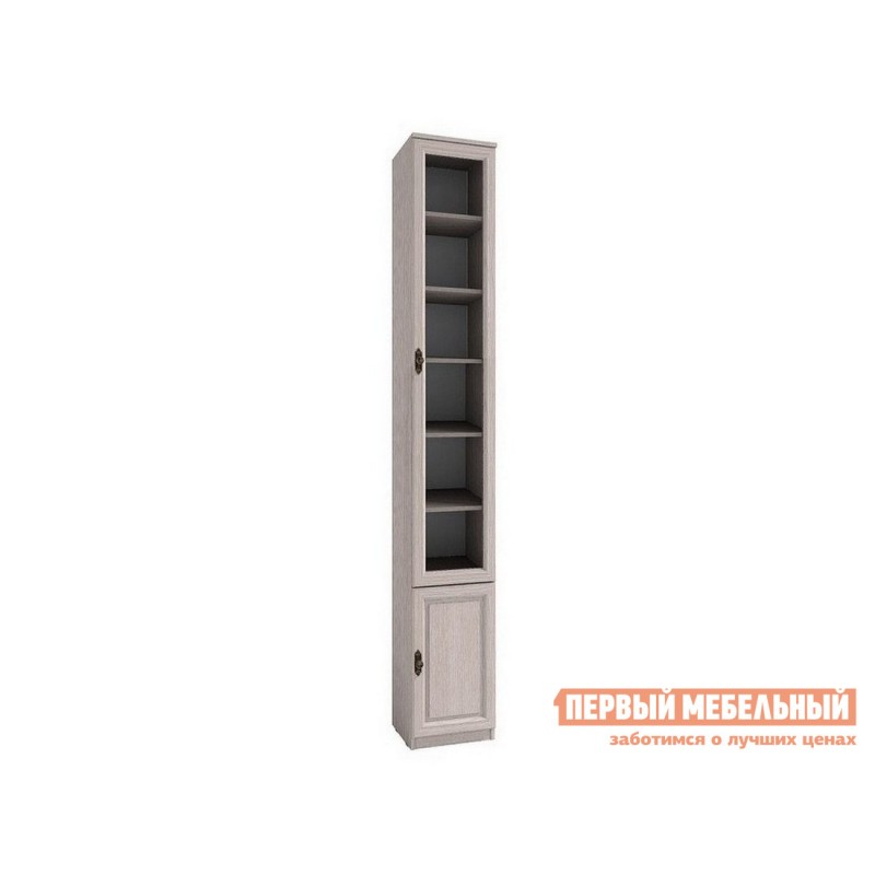 Шкаф-витрина  Montpellier Шкаф для книг 9 Дуб Млечный