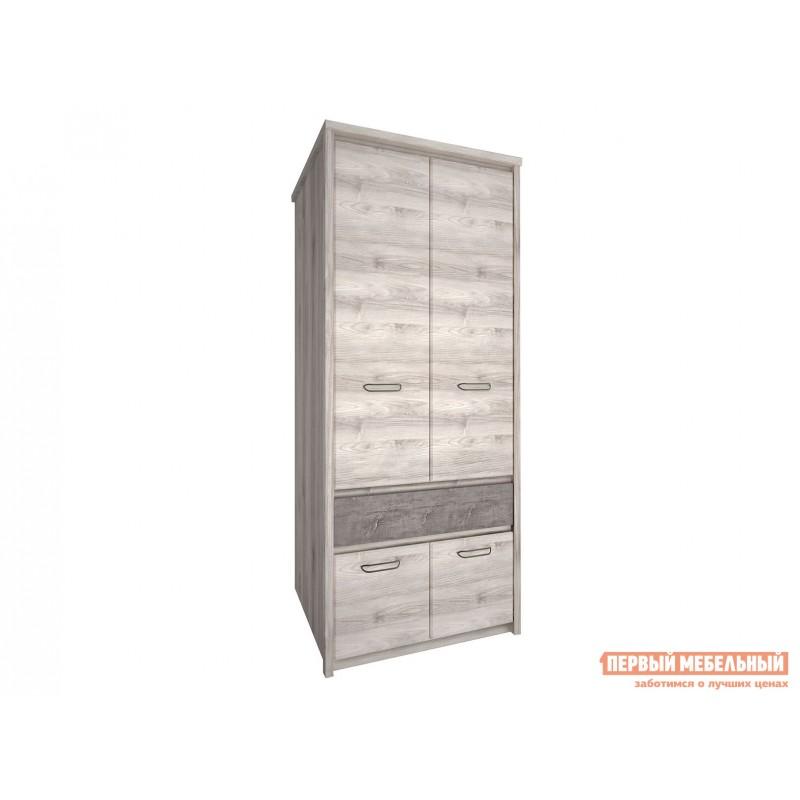 Шкаф распашной  Шкаф 2-х створчатый Джаз Каштан Найроби / Оникс