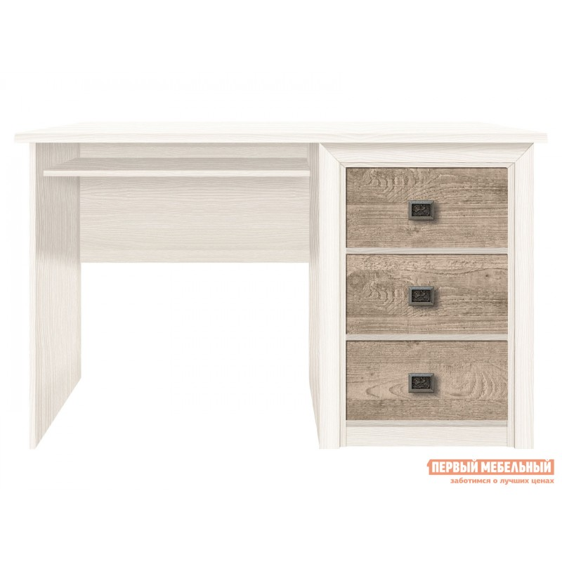 Письменный стол  Коен 1300 мм Ясень снежный / Сосна натуральная