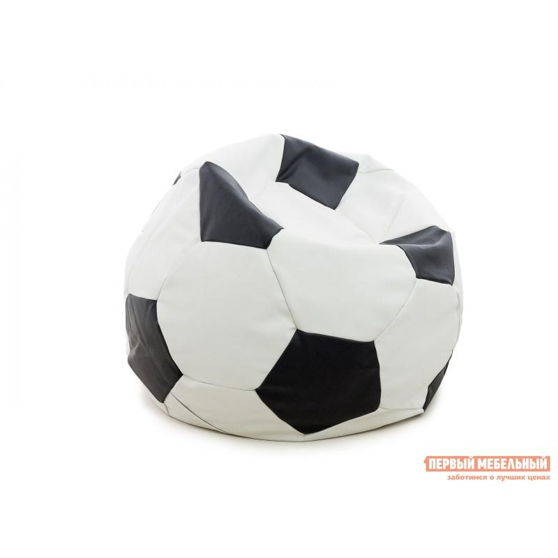 Кресло-мешок  Кресло-мешок Мяч Бело-черная экокожа