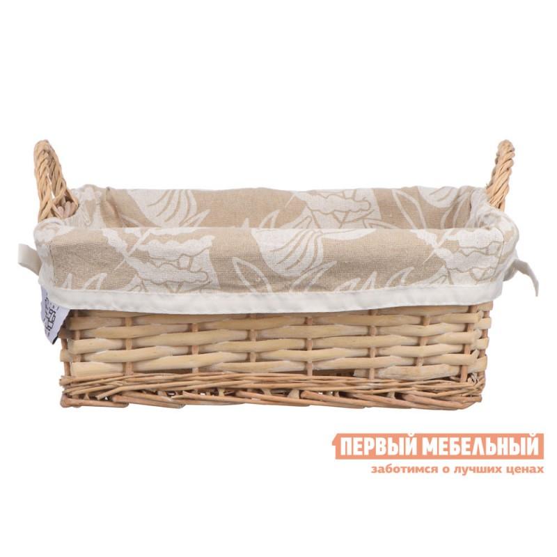 Корзина для хранения  Пальмовый лист Ивовая лоза / Пальмовый лист, ткань, M