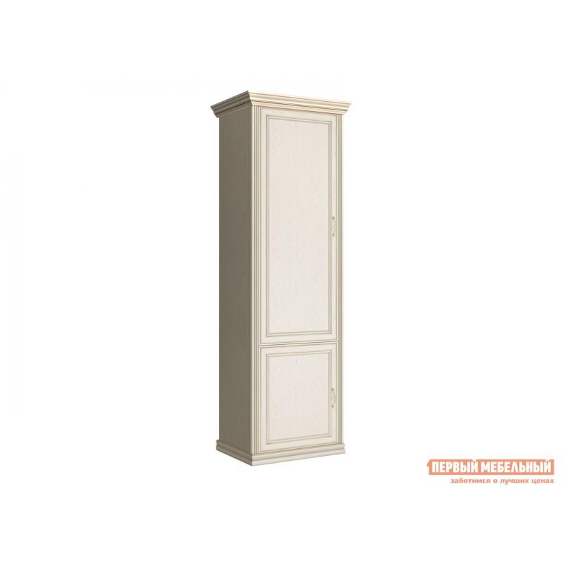 Распашной шкаф  Шкаф-пенал 2-х дверный Венето Дуб молочный, Без полок