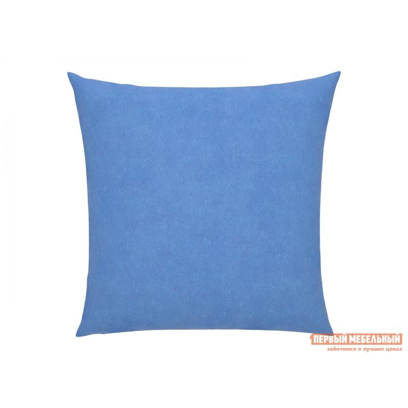 Аксессуар для дивана  Подушка для дивана 40х40  Голубой, велюр