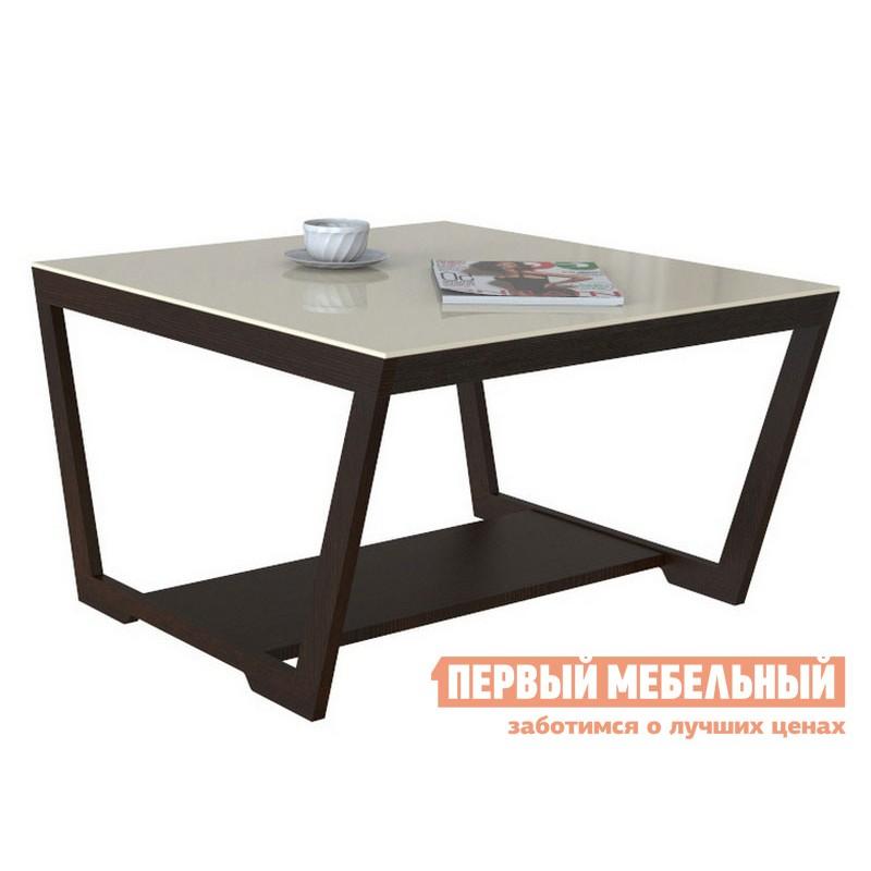 Журнальный столик  BeautyStyle 1 Венге / Стекло бежевое