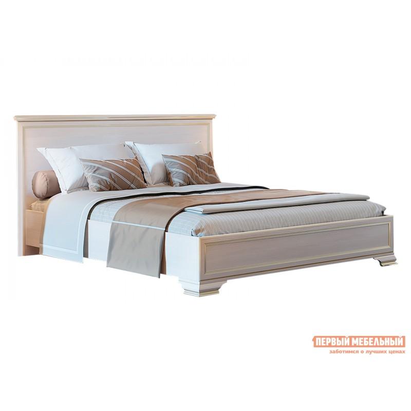 Двуспальная кровать  Кровать с подъемным механизмом Сиена Бодега белый, патина золото, 180х200 см
