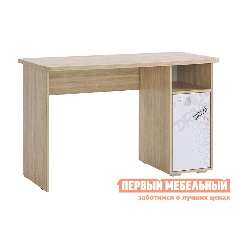 Компьютерный стол детский  Стол Энерджи MDE-05.1623 Дуб сонома / Белый, Без надстройки