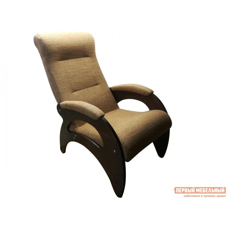 Кресло  Кресло Мария Светло-коричневый, рогожка / Темный орех