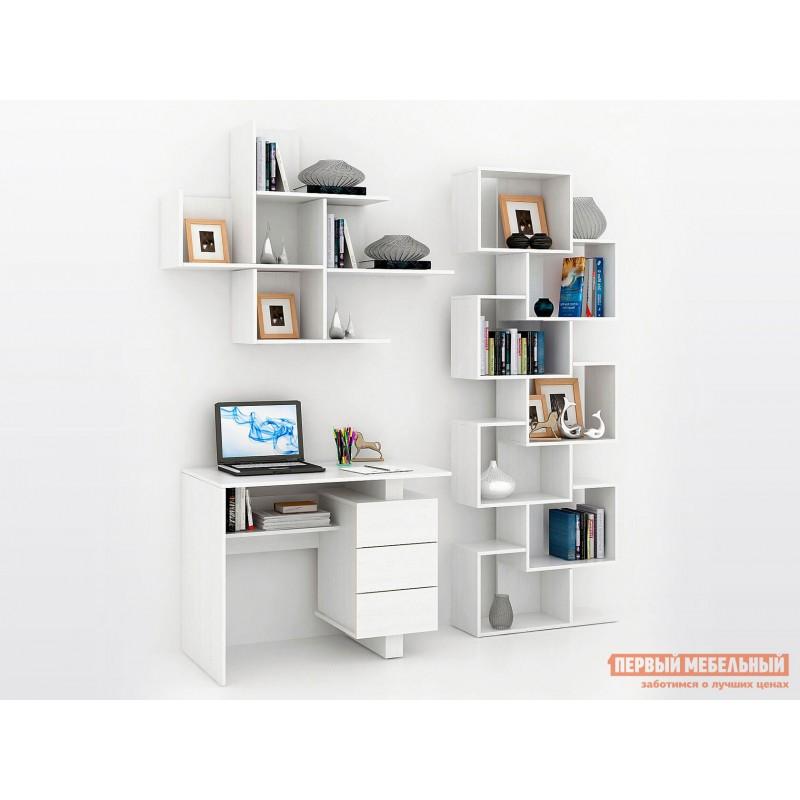 Компьютерный стол  Ренцо-1 + Зет-4 + Файн-172 Белый
