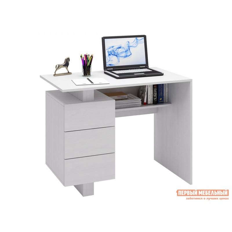 Компьютерный стол  Ренцо-1 + Зет-4 + Файн-172 Белый (фото 2)