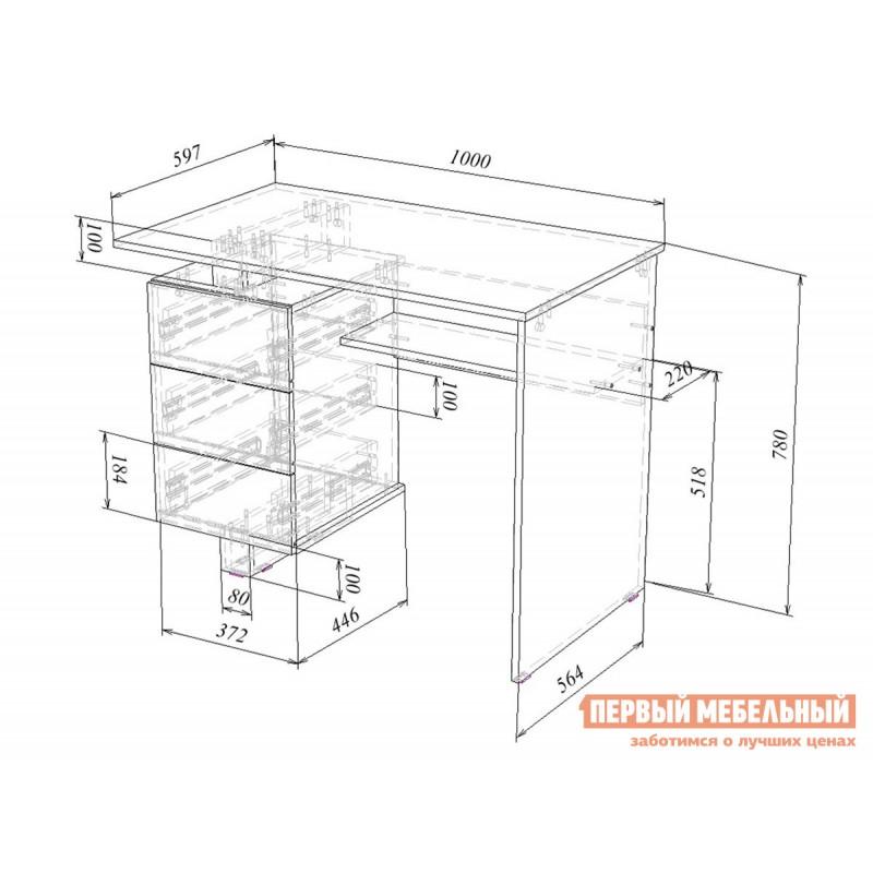 Компьютерный стол  Ренцо-1 + Зет-4 + Файн-172 Белый (фото 5)