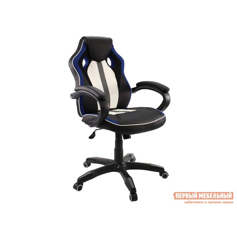 Игровое кресло  Dikline KD35 Черный, иск.кожа / Синий, сетка TW