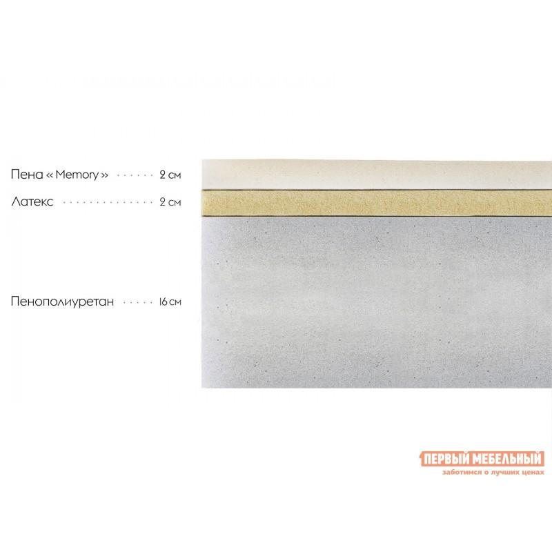 Беспружинный матрас  Матрас Слип 20 Memory Белый, 900 Х 1900 мм (фото 2)