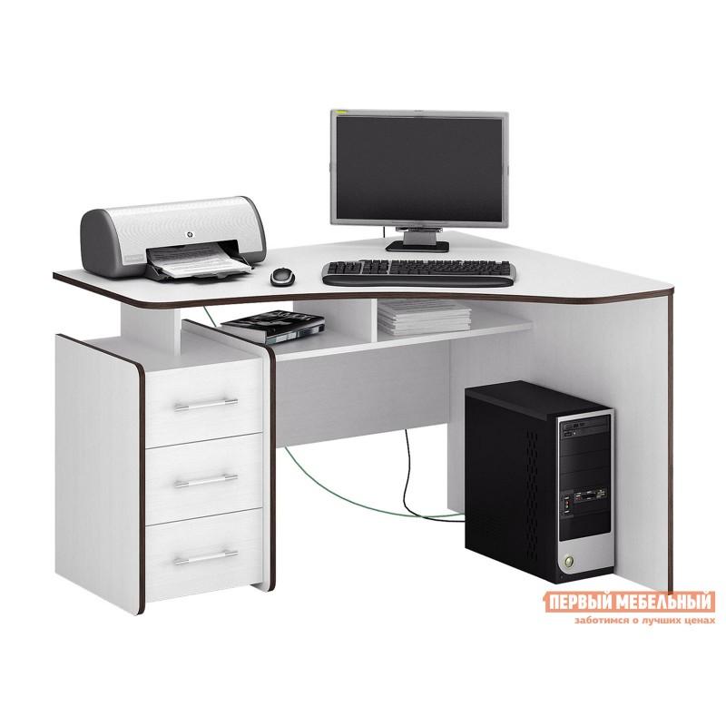 Компьютерный стол  Триан-5 Белый, Правый