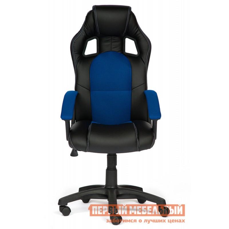 Игровое кресло  Driver Иск.кожа черная / Ткань синяя, 36-6/10 (фото 2)