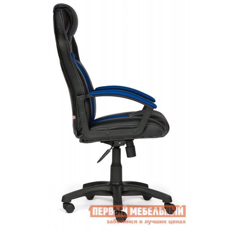 Игровое кресло  Driver Иск.кожа черная / Ткань синяя, 36-6/10 (фото 3)