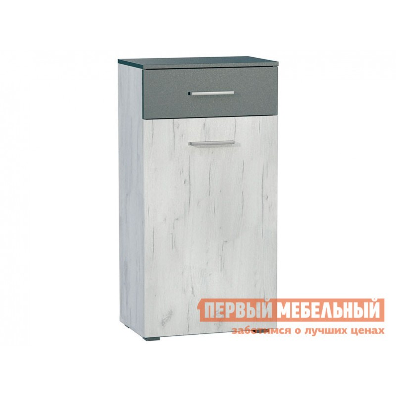 Комод  Юнона Комод К Дуб Белый CRAFT / Серый шифер