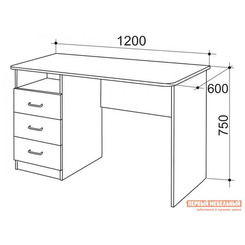 Компьютерный стол  SK02P2.3 + PK02S2.3 + FSK1.2.3 Дуб млечный / Крем, Снежный барс (фото 3)