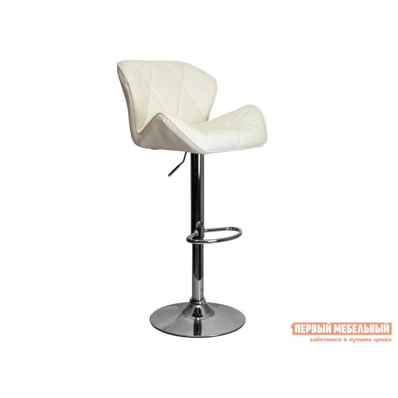 Барный стул  Стул барный BERLIN Кремовый, экокожа / Хром, металл