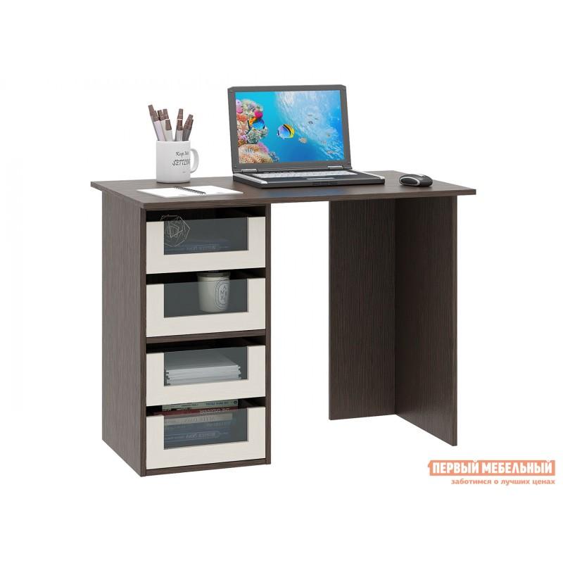Письменный стол  Прайм-33 Венге / Дуб молочный