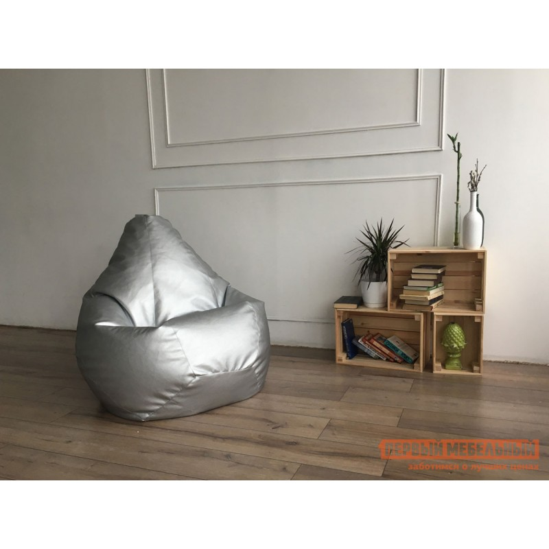 Кресло-мешок  Кресло-мешок Ашли Металлик экокожа, 3XL (фото 2)