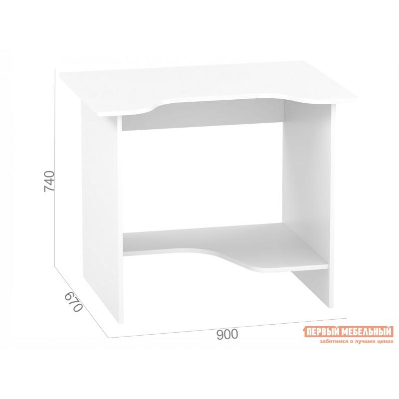 Компьютерный стол  КСТ-03 Белый (фото 3)