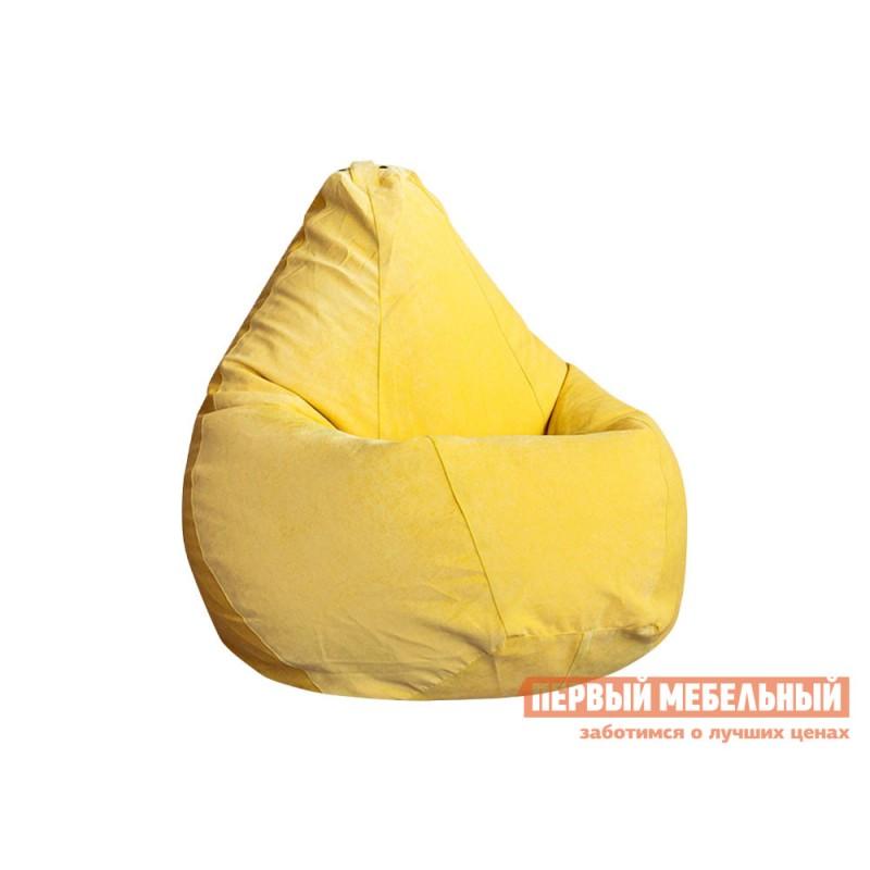 Кресло-мешок  Кресло-мешок Микровельвет Желтый микровельвет, 2XL