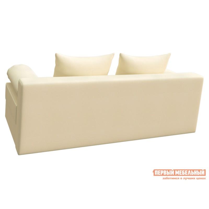 Прямой диван  Челси Кремовый, экокожа (фото 3)
