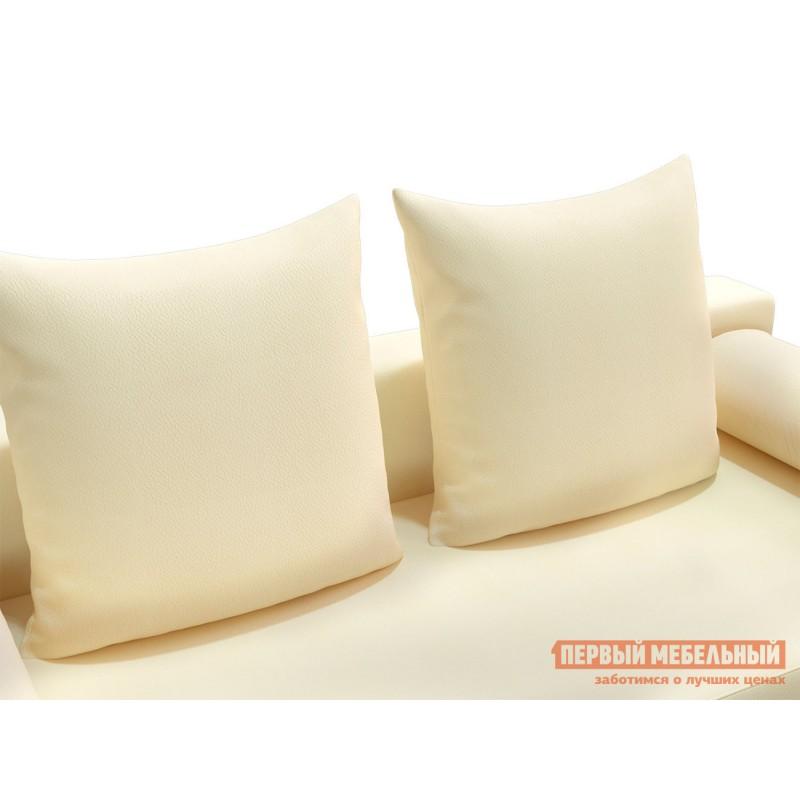 Прямой диван  Челси Кремовый, экокожа (фото 4)