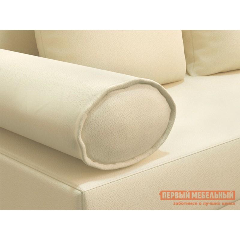 Прямой диван  Челси Кремовый, экокожа (фото 5)