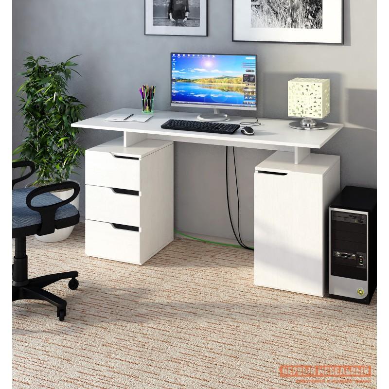 Письменный стол  Нейт-3 Белый (фото 2)