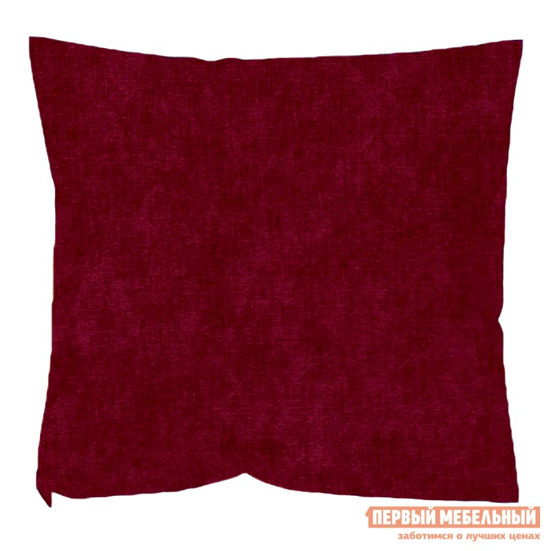 Декоративная подушка  Бордовый Микровельвет Бордовый микровельвет