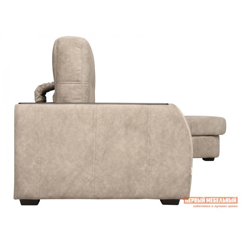 Угловой диван  Диван Дрезден Бежевый, велюр, Правый (фото 4)