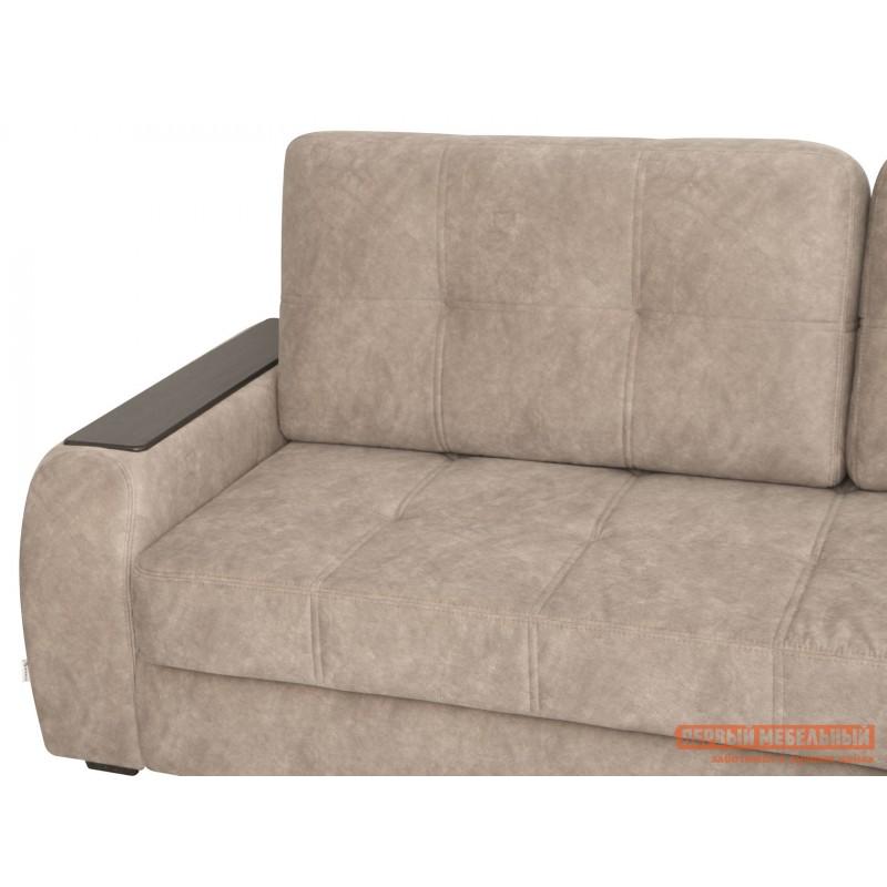 Угловой диван  Диван Дрезден Бежевый, велюр, Правый (фото 9)
