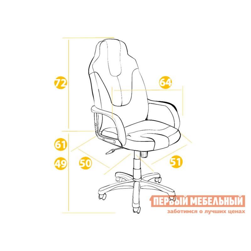 Игровое кресло  NEO (1) Черная, иск.кожа / Красная, иск.кожа (фото 5)
