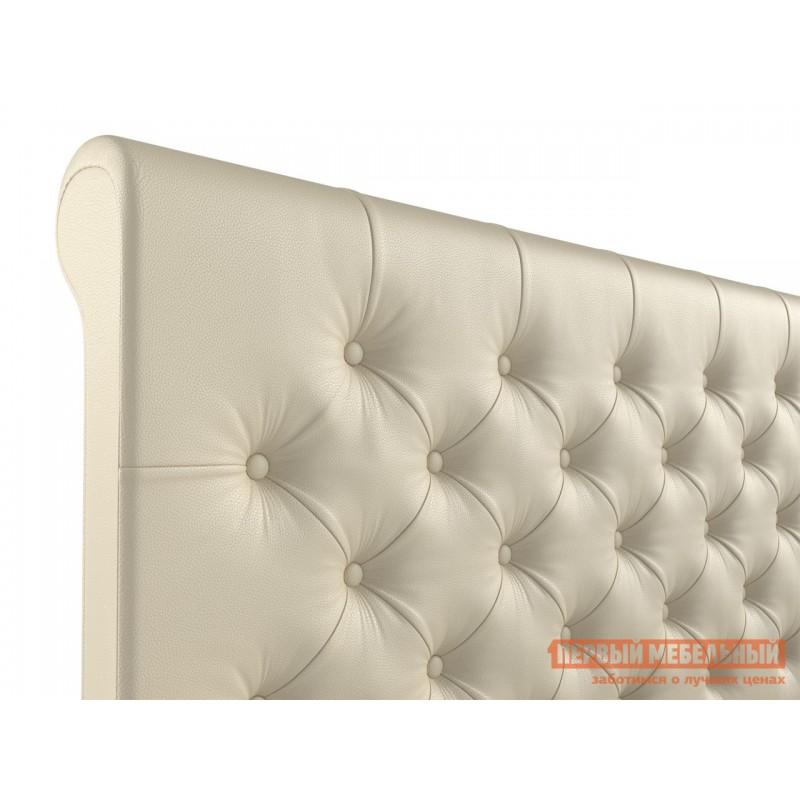 Двуспальная кровать  Кровать с подъемным механизмом Офелия Слоновая кость, экокожа, 1600 Х 2000 мм (фото 4)